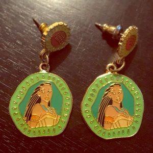 Vintage Disney Pocahontas Dangling 🌻 Earrings